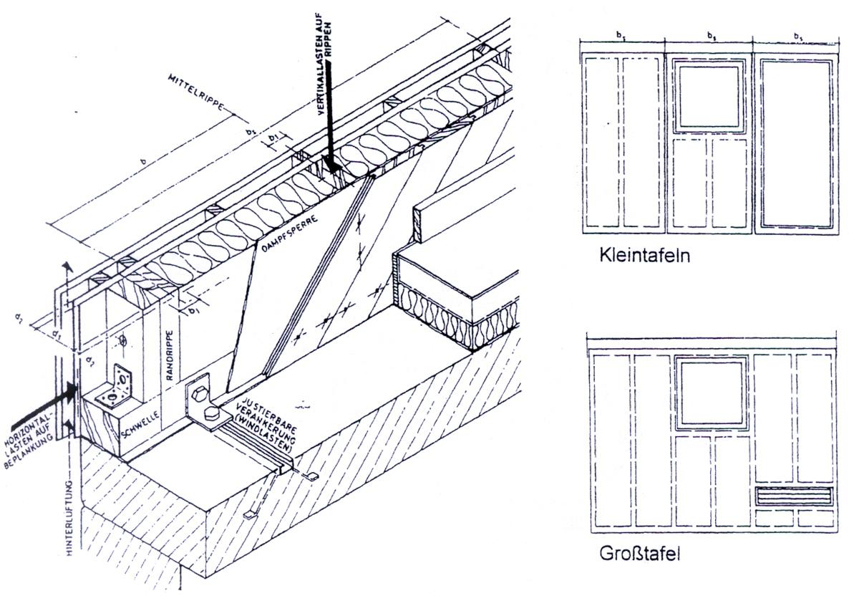 Außenwand in Holzbauweise